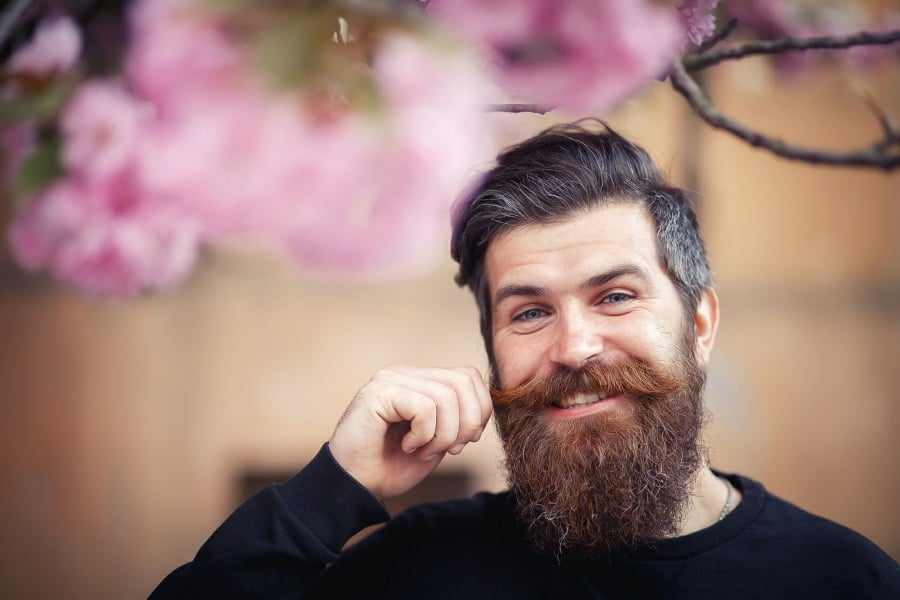 pogonophobia fear of beards - middle aged man with full beard