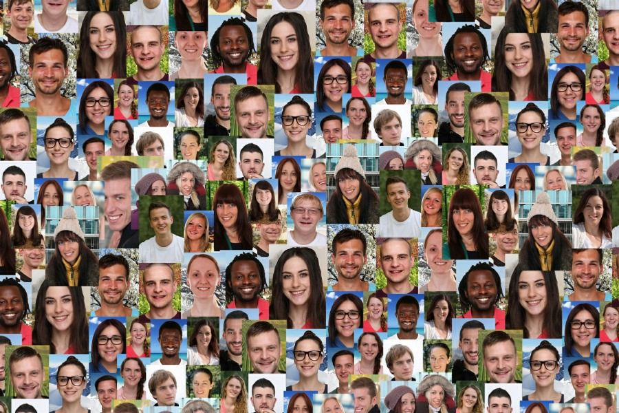 fear of foreigners xenophobia - multi racial collection of people