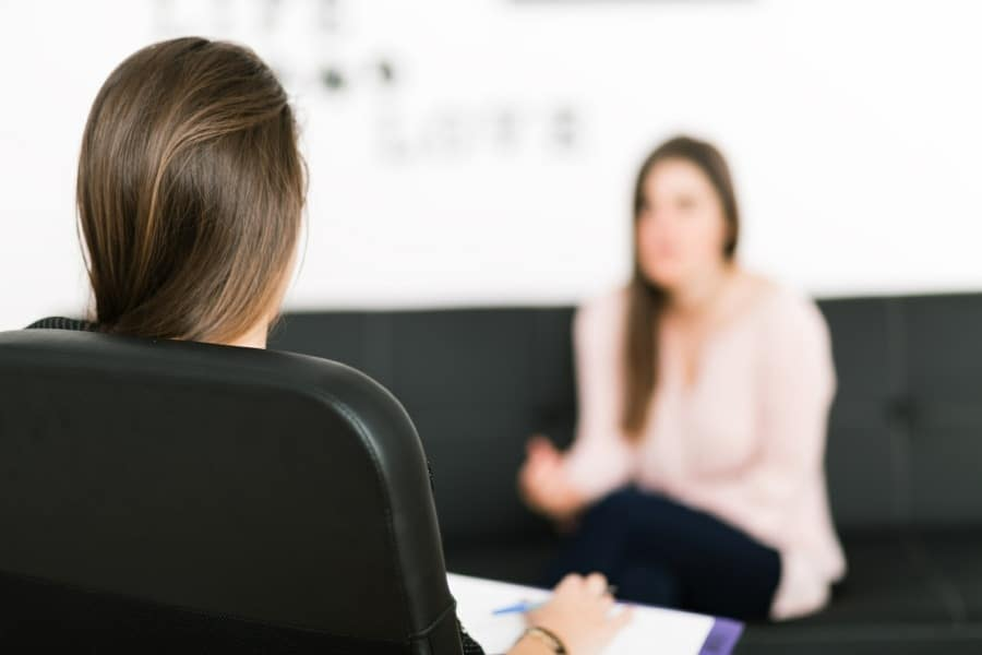 talking therapies at tranceform psychology wolverhampton - therapist and client