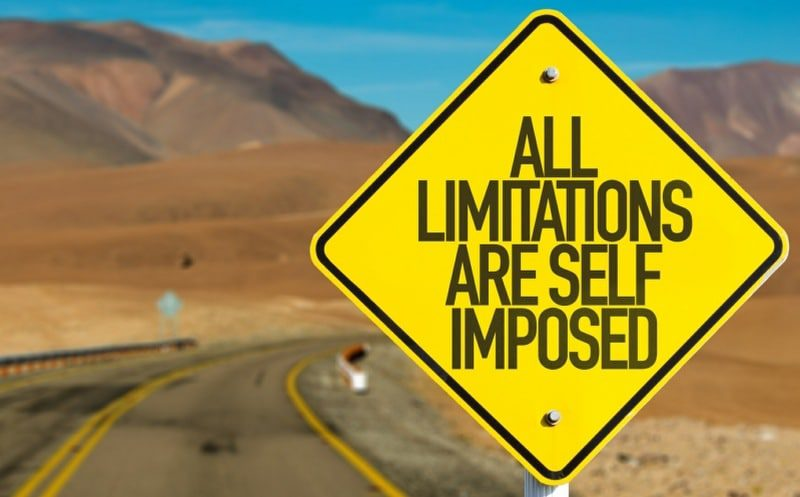 safety behaviours are self imposed limitations - limitations road sign