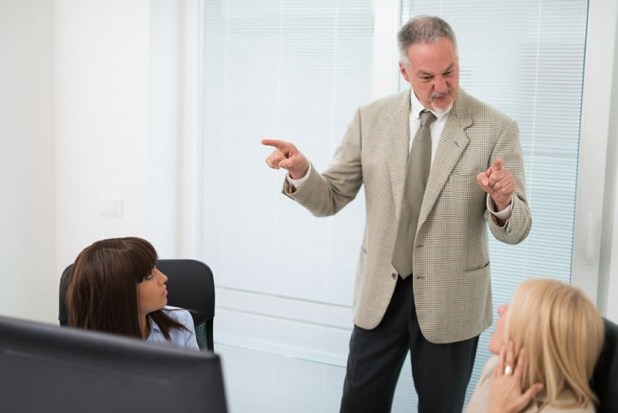 aggression can be one of the signs of stress at work - aggressive manager