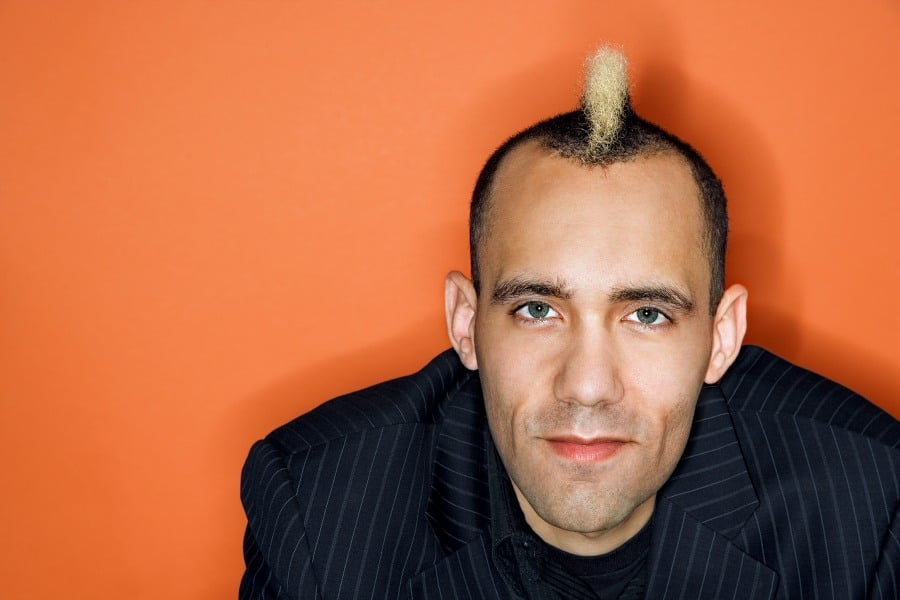 Fear of Men Androphobia - Man with Mohawk hairstyle