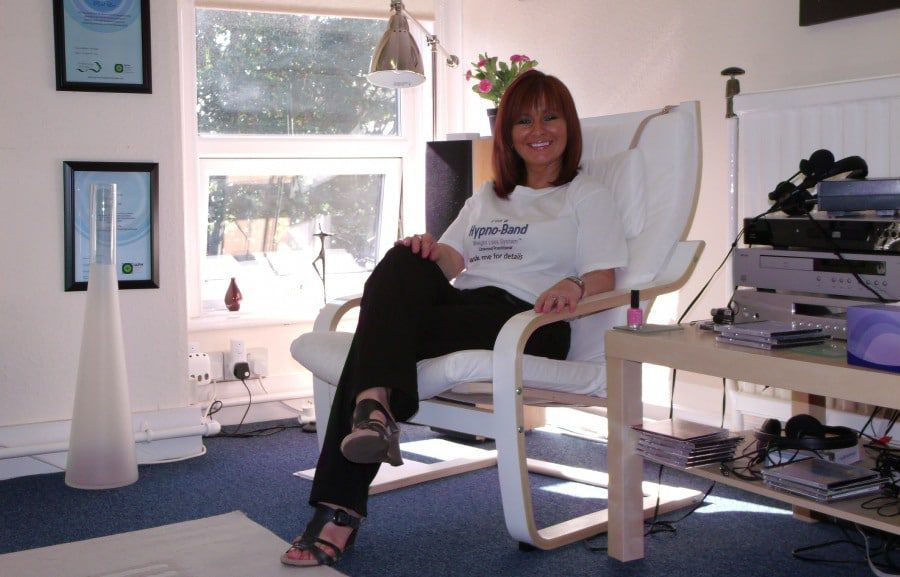 Hypnotherapist joan lee in her offices in Wombourne